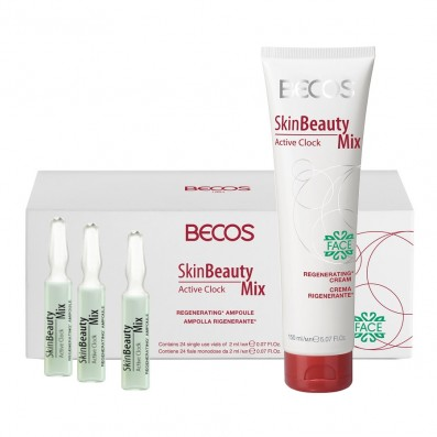 Skin Beauty Mix Active Clock- Ampolle (24) & CremaMax Viso Rigenerante
